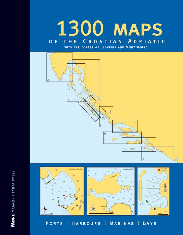 1300 Maps of the Croatian Adriatic